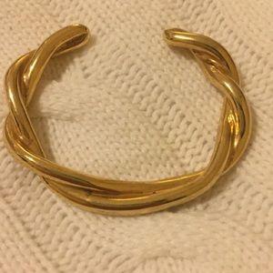 ❤️gorgeous j crew braided gold bracelet